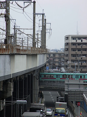 vía tren Shinkansen Nishitetsu cruce 新幹線 西鉄 交差点 線路 電車 rails train