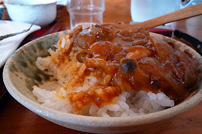 Savatei 鯖亭 日替わり 定食 ランチ menú del día lunch special arroz hayashi rice ハヤシライス