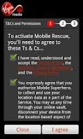 Screenshot of Virgin Mobile Rescue