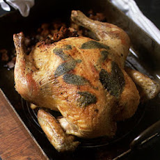 Roasted Capon with Sage Stuffing