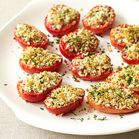Roasted Tomatoes with Parmesan-Oregano Breadcrumbs