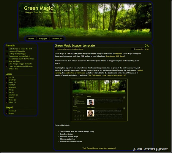 Greenmagic Template 1