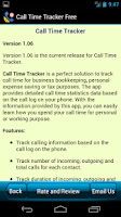 Screenshot of Call Time Tracker+Blocker Free