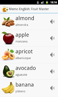 Memo English: Fruit Master - screenshot