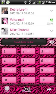 GO CONTACTS - Hot Pink Zebra 2 - screenshot