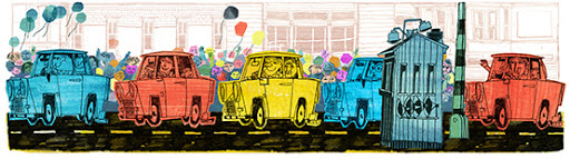Google Doodle German Reunification Day 2013