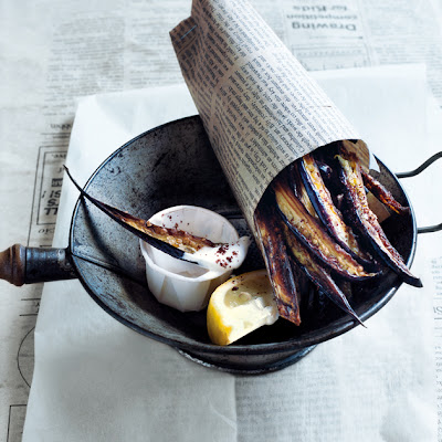 Sumac Eggplant Chips With Yoghurt