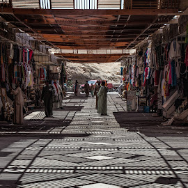 out of the direct sun by Vibeke Friis - City,  Street & Park  Markets & Shops ( slats, shadows,  )