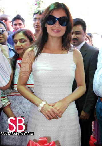 Diya Mirza- Chic in white