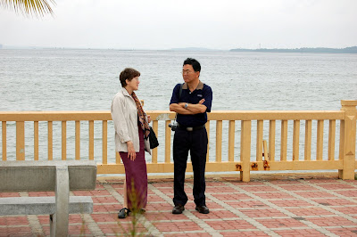 Ann chatting with Chun See
