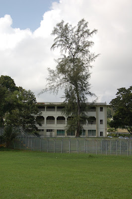 Closer look at old secondary school.