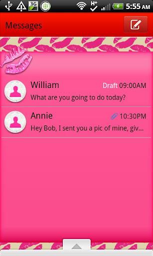 GO SMS - Kiss Me