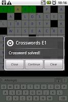 Screenshot of Crosswords E1