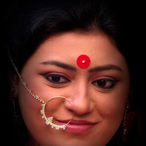 Face by Anumita Das - People Portraits of Women ( face, traditional, smile, nosering )