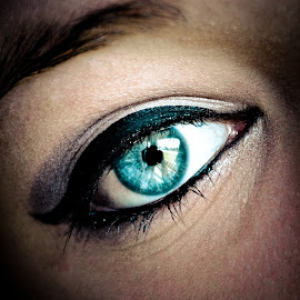 BBE for big blue eyes. by Mindy Morin - People Body Parts ( big eyes, blue, makeup, white, light, eyes, eye )