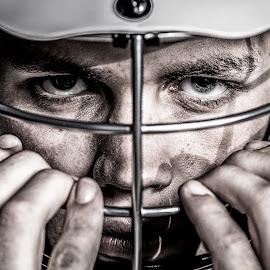 Young eyes by Scott Martin - Sports & Fitness Lacrosse ( sports, intensity, senior, lacrosse, eyes,  )