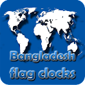 Bangladesh flag clocks icon
