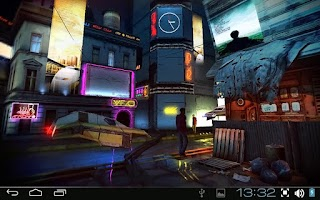 Screenshot of Futuristic City 3D Pro lwp