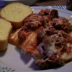 Baked Manicotti With Meat Sauce