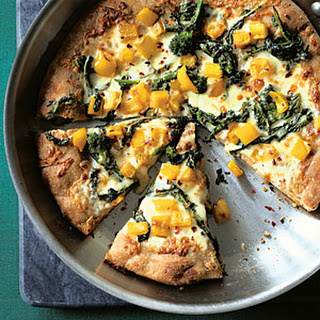 Broccoli Rabe Skillet Pizza