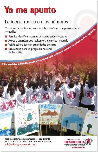 día mundial de la hemofilia - poster