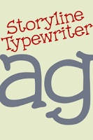 Screenshot of Storyline Typewriter FlipFont