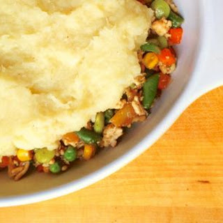 Shepherd's Pie with Horseradish Mashed Parsnips {Dairy Free}