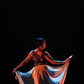 Back of Traditional Dancer by Wildan Fajri - People Fashion ( fashion, silhouette, simple, art, traditional, jogja, women, cultural heritage, yogyakarta, girl, simplicity, female, indonesia, movement, artist, fashion photography, dance, dancer, culture )