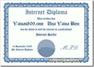 Certificacion Diploma navegador internet