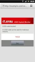 Screenshot of Avira USSD Exploit Blocker