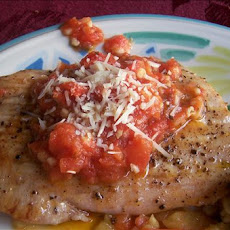 Seared Opah (Moonfish) With Vine-Ripe Tomato Garlic Butter