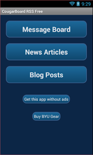 CougarBoard RSS Free - screenshot