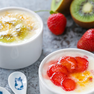 Brûléed Yogurt with Fresh Fruit