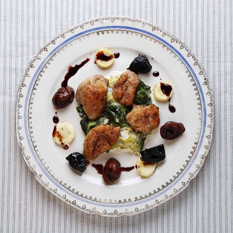 Sweetbreads with Chestnuts and Parsnips