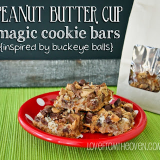 Peanut Butter Cup Magic Cookie Bars