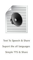 Screenshot of Simple TTS (Text To Speech)