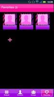 Screenshot of GO Contacts Girly Zebra Theme