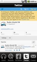 Screenshot of Radio Klasik FM