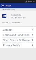 Screenshot of 1&1 Server Monitoring