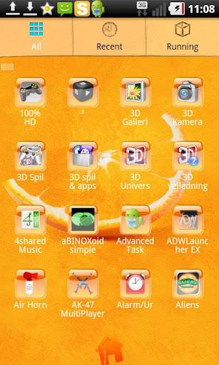 Go launcher theme orange