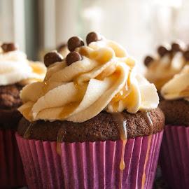Caramel by Eva Einarsdottir - Food & Drink Cooking & Baking ( cupcake, food, baking, olympus, caramel,  )