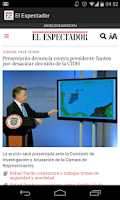Screenshot of El Espectador