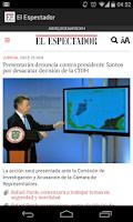 Screenshot of El Espectador Móvil