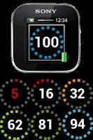 Screenshot of SmartWatch Phone Battery Level