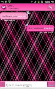 GO SMS THEME/DiamondBlackPlaid - screenshot