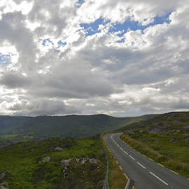 The Road to Killarney by Holly Lent - Landscapes Travel ( clouds, mountains, ireland, killarney, road,  )