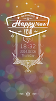 Screenshot of New Year Live Locker Theme