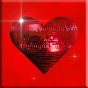 Red Sparkle Hearts Live icon