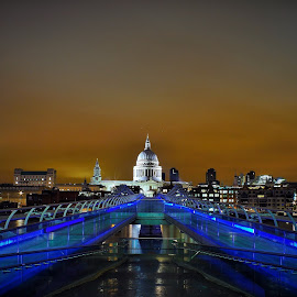 St Pauls, London by Brian Knott - Buildings & Architecture Public & Historical ( london, thames, night, cathedral, bridge, river,  )