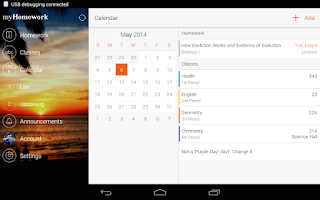 Screenshot of myHomework Student Planner